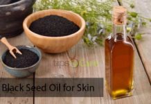 Black seed oil for skin