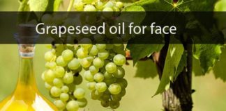 Grapeseed oil for face