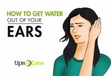 how to get water out of ear