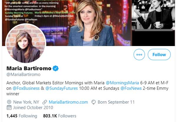 Maria Bartiromo MariaBartiromo Twitter