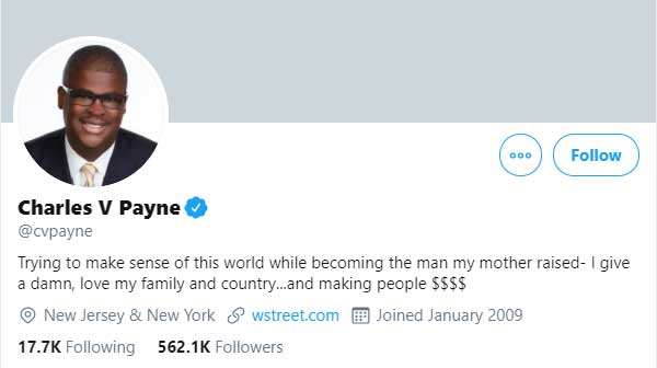 Charles V Payne cvpayne Twitter