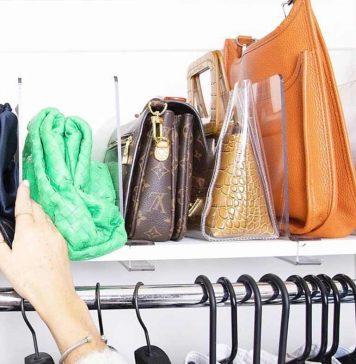 DIY handbag storage ideas